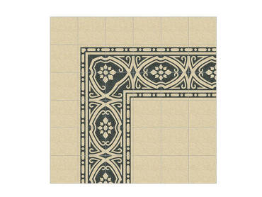 Agnese terrazzo decorative double border