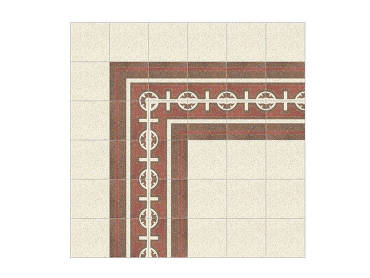 Cheope terrazzo decorative double border