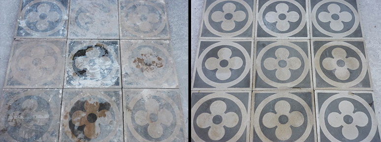 restauro pavimenti antichi cementina graniglia  u0026gt  romano